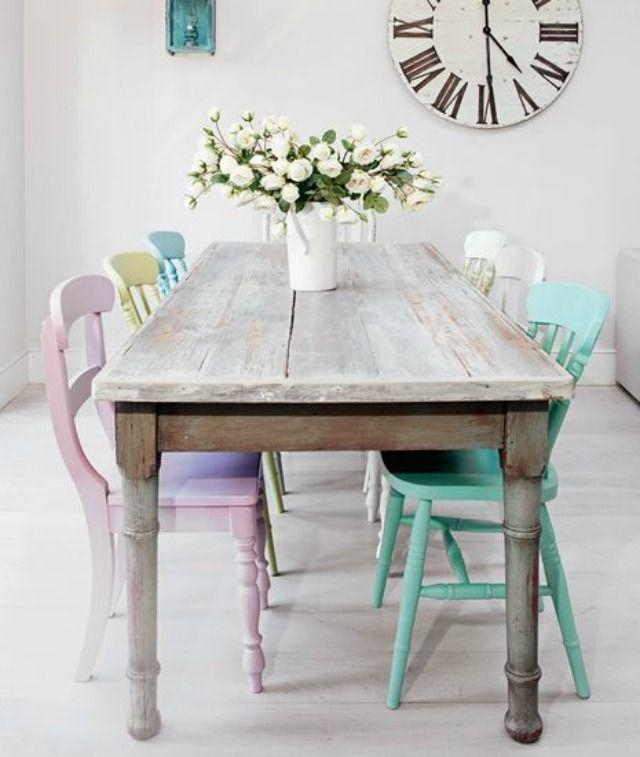 Best 20+ Shabby Chic Dining Ideas On Pinterest | Dining Table With With Shabby Dining Tables And Chairs (Image 8 of 20)