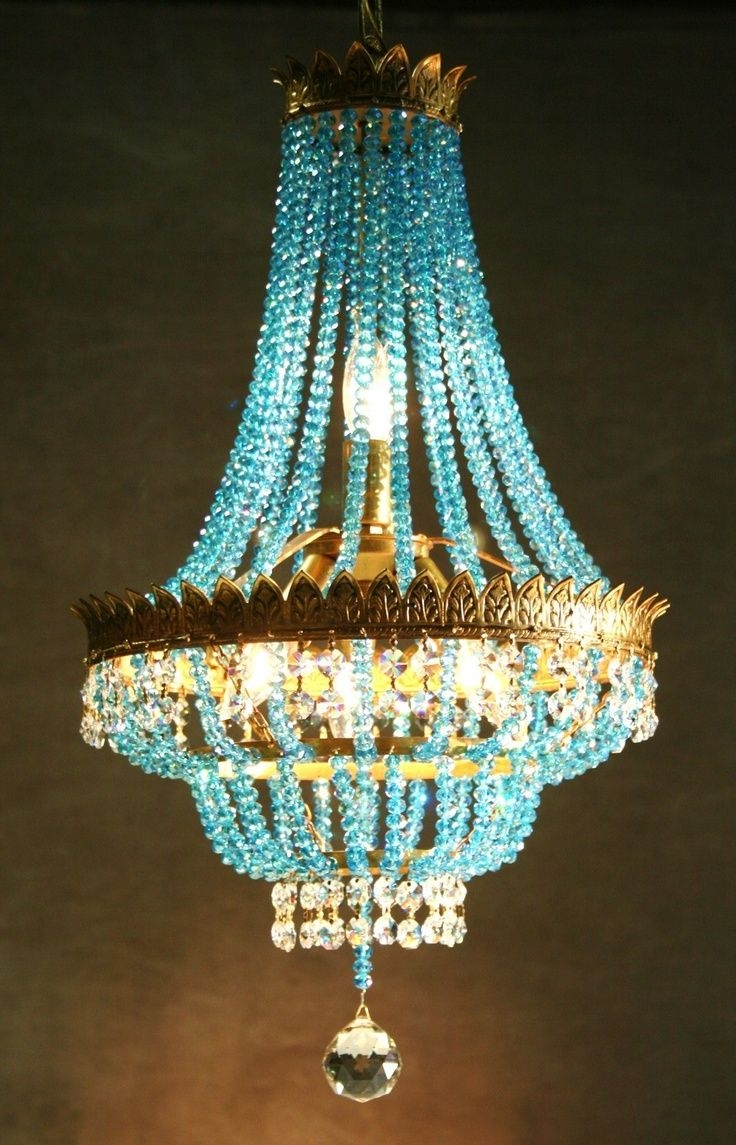 Best 20 Turquoise Chandelier Ideas On Pinterest French Bistro For Purple Crystal Chandelier Lighting (Image 6 of 25)