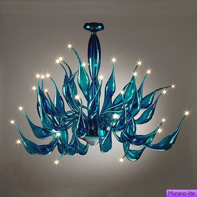 Best 20 Turquoise Chandelier Ideas On Pinterest French Bistro For Turquoise Blown Glass Chandeliers (Image 6 of 25)
