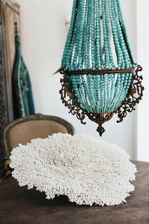 Best 20 Turquoise Chandelier Ideas On Pinterest French Bistro For Turquoise Blue Beaded Chandeliers (Image 9 of 25)