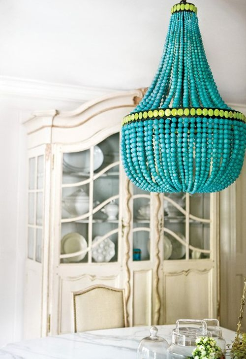 Best 20 Turquoise Chandelier Ideas On Pinterest French Bistro For Turquoise Blue Beaded Chandeliers (Image 8 of 25)