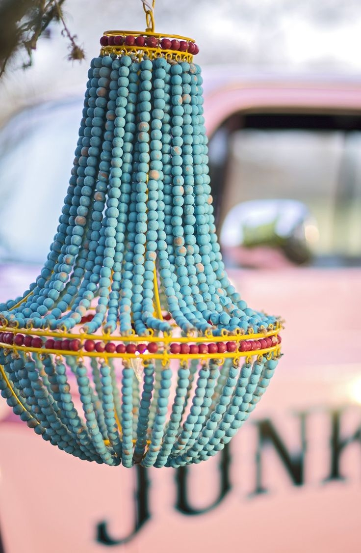 Best 20 Turquoise Chandelier Ideas On Pinterest French Bistro Pertaining To Small Turquoise Beaded Chandeliers (Image 7 of 25)