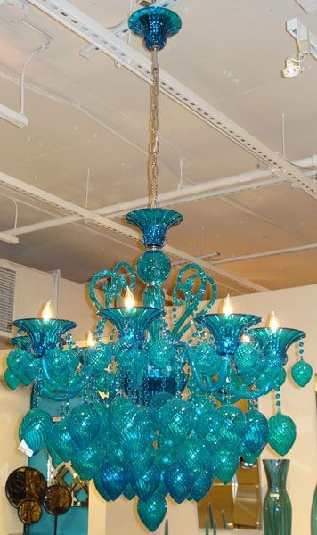 25 Inspirations Turquoise Color Chandeliers Chandelier Ideas