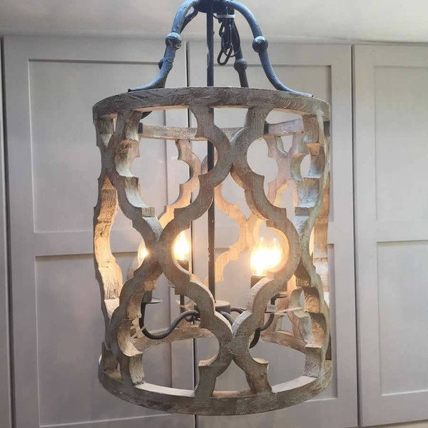 Best 20 Wooden Chandelier Ideas On Pinterest Rustic Wood Intended For Metal Ball Chandeliers (Image 4 of 25)