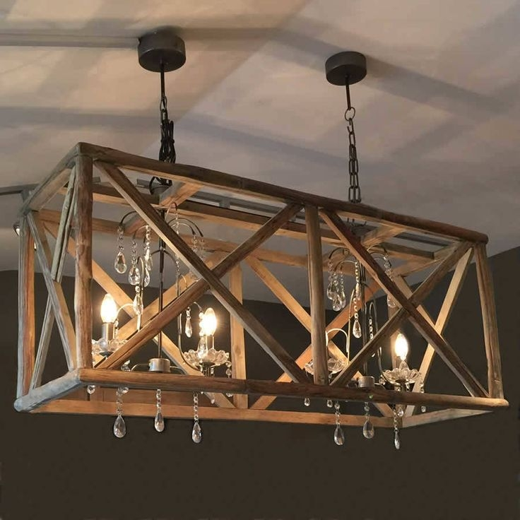 Best 20 Wooden Chandelier Ideas On Pinterest Rustic Wood Pertaining To Metal Ball Chandeliers (Image 5 of 25)