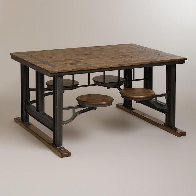 Best 20+ World Market Table Ideas On Pinterest | Cheap Console Within Dining Tables With Attached Stools (View 3 of 20)