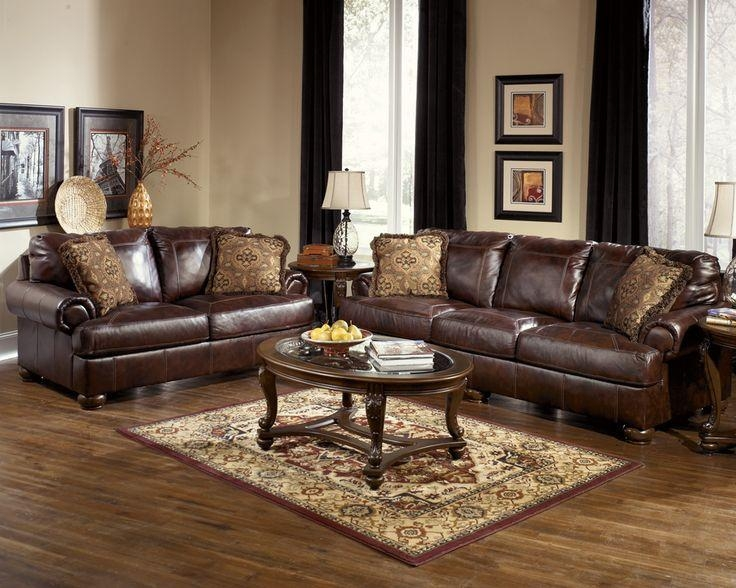Best 25+ Ashley Leather Sofa Ideas On Pinterest | Ashley Furniture Regarding Burgundy Leather Sofa Sets (Image 5 of 20)