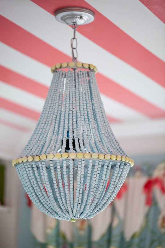 Featured Image of DIY Turquoise Beaded Chandeliers