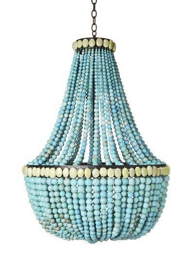 Featured Image of Turquoise Beaded Chandelier Light Fixtures