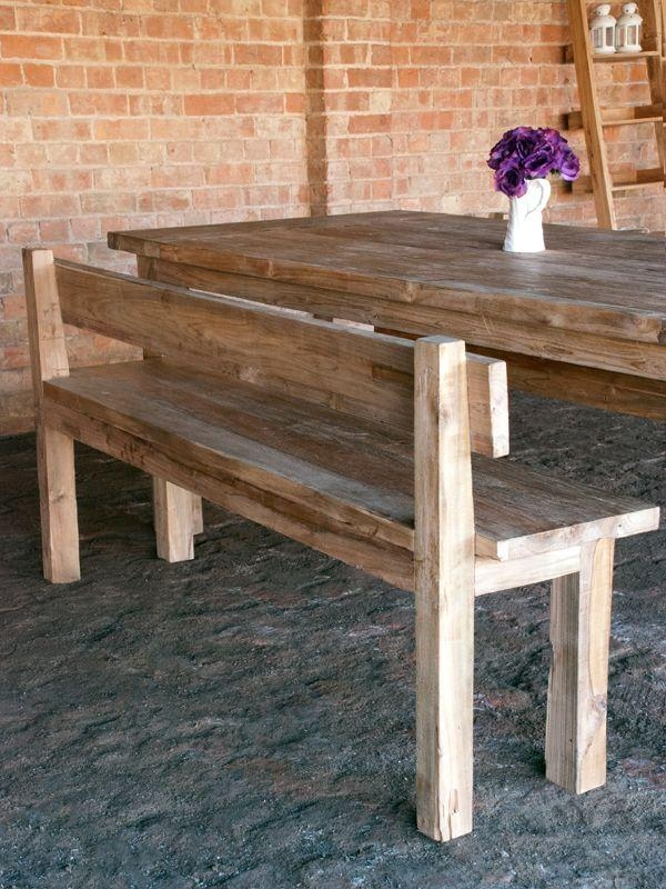 Best 25+ Bench With Back Ideas On Pinterest | Wood Bench With Back Intended For Bench With Back For Dining Tables (Image 9 of 20)