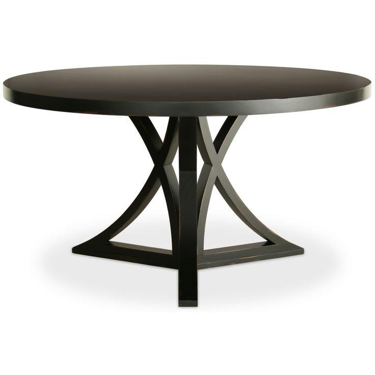 Best 25+ Black Round Dining Table Ideas On Pinterest | Dining For Black Circular Dining Tables (View 2 of 20)
