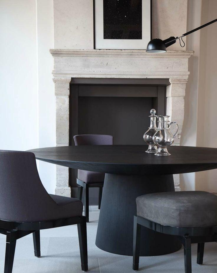 Best 25+ Black Round Dining Table Ideas On Pinterest | Dining Throughout Dark Round Dining Tables (View 14 of 20)