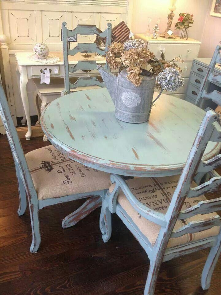 Best 25+ Blue Dining Tables Ideas On Pinterest | Dinning Room Intended For Ivory Painted Dining Tables (View 13 of 20)