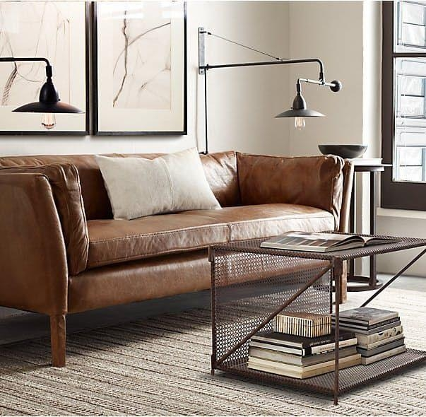 Featured Image of Contemporary Brown Leather Sofas