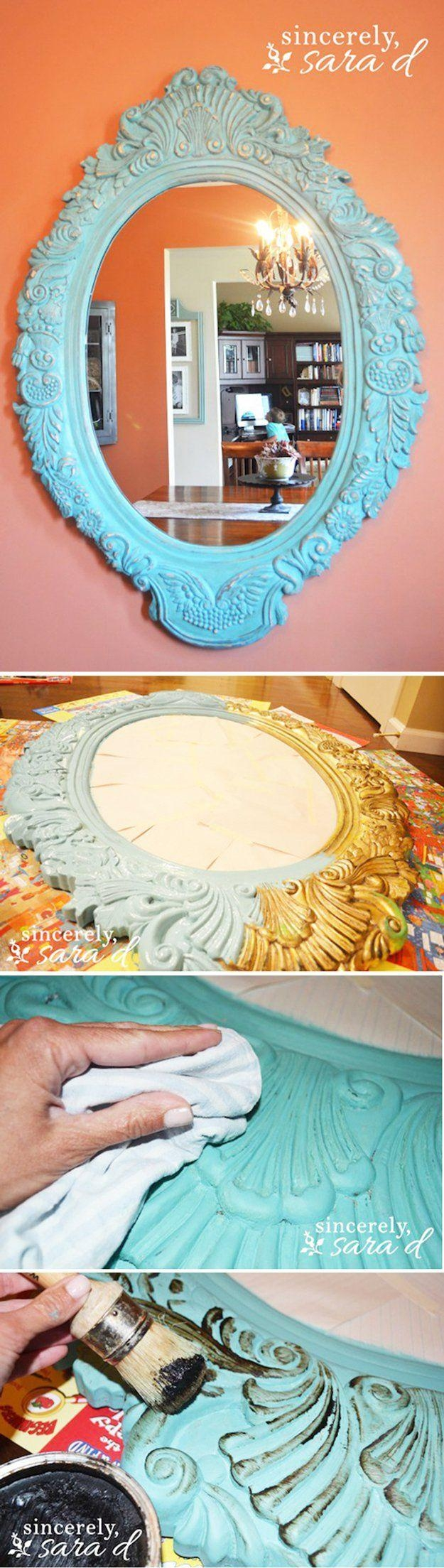 Best 25+ Chalk Paint Mirror Ideas On Pinterest | Painted Frames Within White Distressed Mirror Shabby Chic (View 18 of 20)