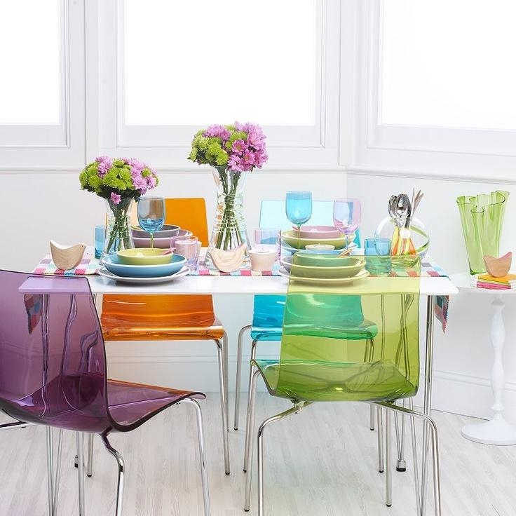 Best 25+ Coloured Dining Chairs Ideas Only On Pinterest Pertaining To Colourful Dining Tables And Chairs (Image 4 of 20)