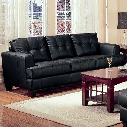 Best 25+ Contemporary Leather Sofa Ideas On Pinterest Pertaining To Contemporary Black Leather Sofas (View 9 of 20)