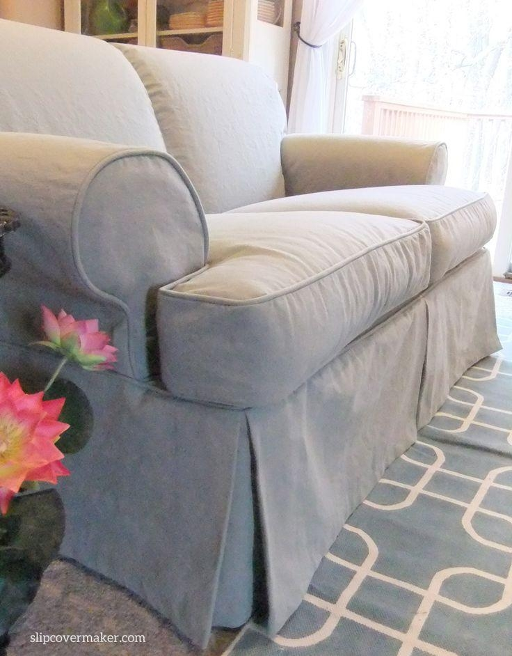 Best 25+ Couch Covers Ideas On Pinterest | Couch Cushion Covers Pertaining To Canvas Slipcover Sofas (Image 2 of 20)