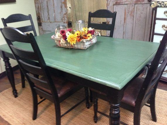 Best 25+ Country Kitchen Tables Ideas On Pinterest | Painted Regarding Green Dining Tables (Image 7 of 20)