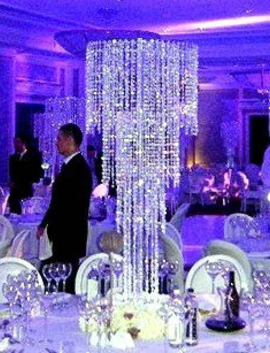 Best 25 Crystal Wedding Centerpieces Ideas On Pinterest Crystal Regarding Faux Crystal Chandelier Centerpieces (Image 9 of 25)