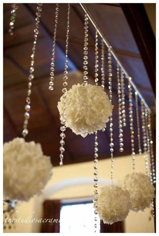 Best 25 Crystal Wedding Decor Ideas On Pinterest Crystal Regarding Faux Crystal Chandelier Wedding Bead Strands (Image 11 of 25)