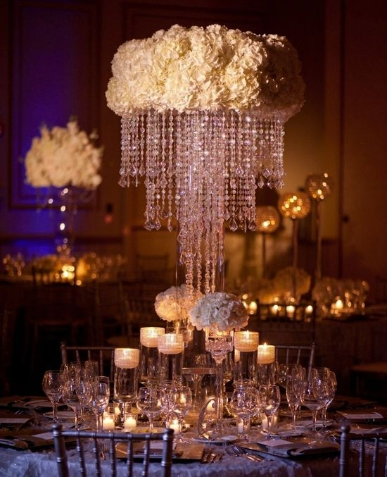 Best 25 Crystal Wedding Decor Ideas On Pinterest Crystal With Faux Crystal Chandelier Centerpieces (Image 11 of 25)