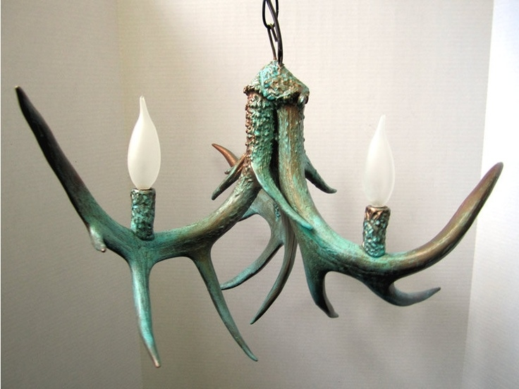 Featured Image of Turquoise Antler Chandeliers