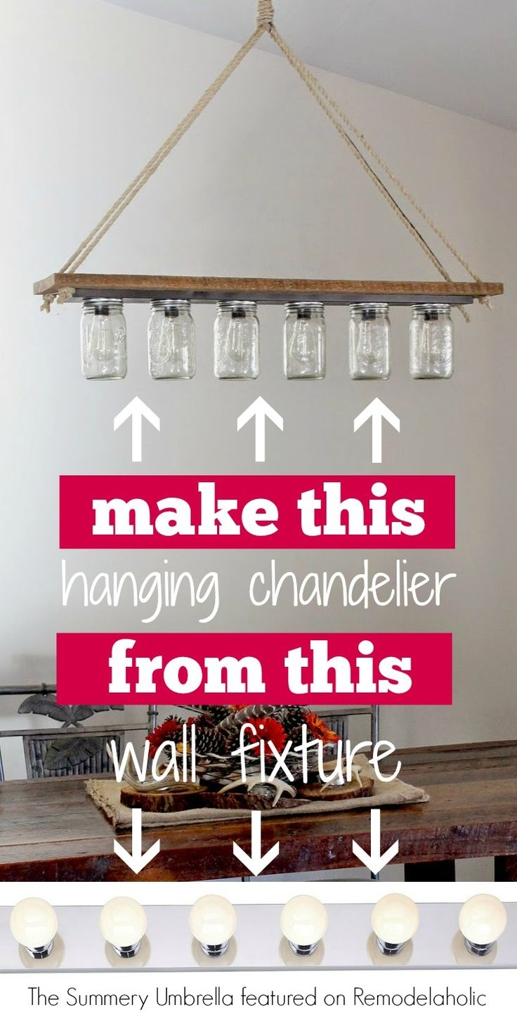 Best 25 Diy Light Fixtures Ideas On Pinterest Rustic Bathroom Pertaining To Chandelier Bathroom Vanity Lighting (Image 11 of 25)