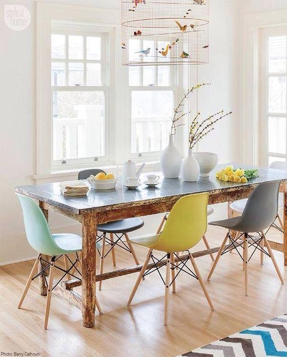 Best 25+ Eames Dining Ideas On Pinterest | Eames Dining Chair Within Colourful Dining Tables And Chairs (Image 6 of 20)