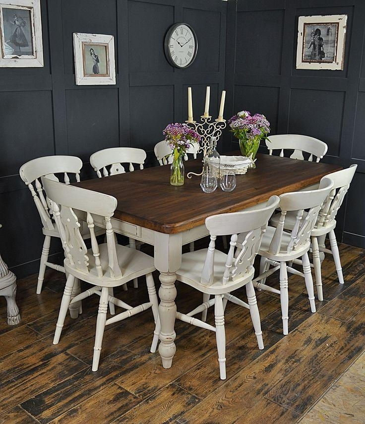 Best 25+ Farmhouse Dining Set Ideas On Pinterest | White Kitchen Throughout 8 Seater Dining Tables (View 15 of 20)