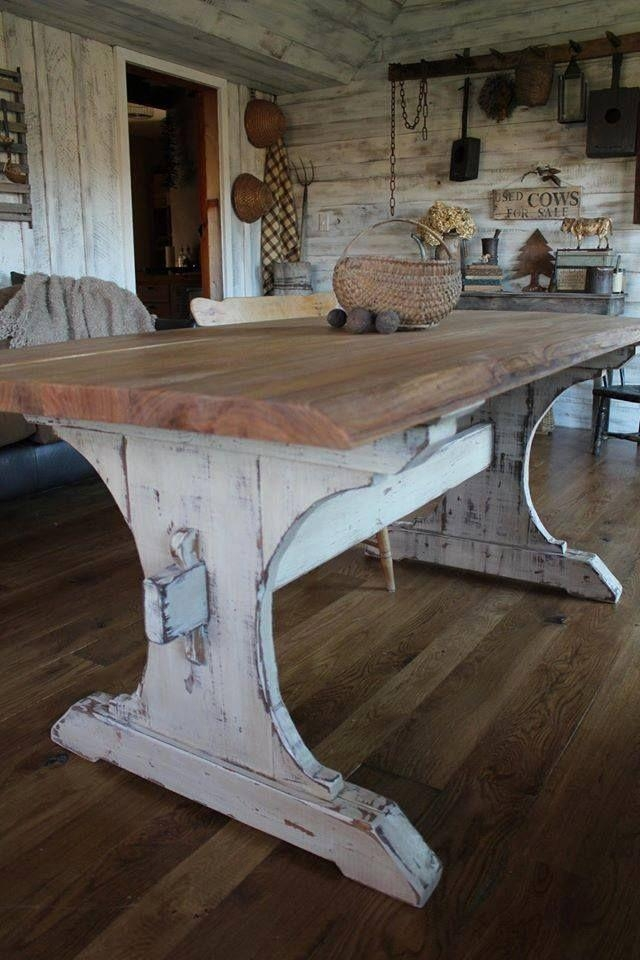 Best 25+ Farmhouse Table Legs Ideas Only On Pinterest | Kitchen In Dining Tables With Large Legs (View 10 of 20)