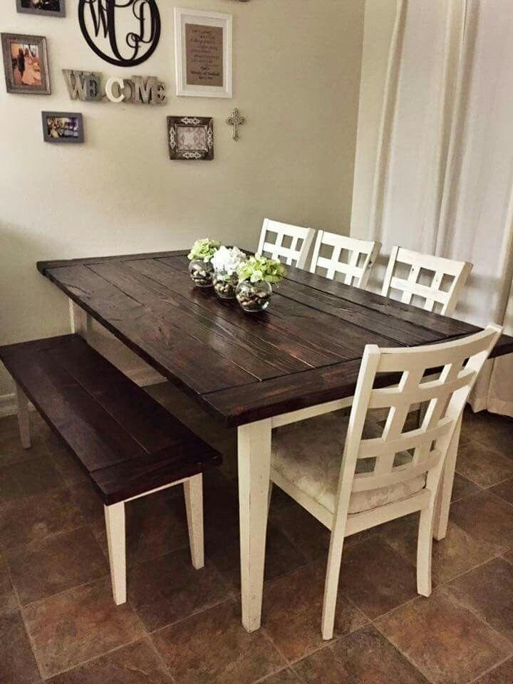 Dining Tables With White Legs And Wooden Top Dining Room