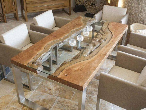 Best 25+ Glass Dining Table Ideas On Pinterest | Glass Dining Room Throughout Wood Glass Dining Tables (Image 2 of 20)