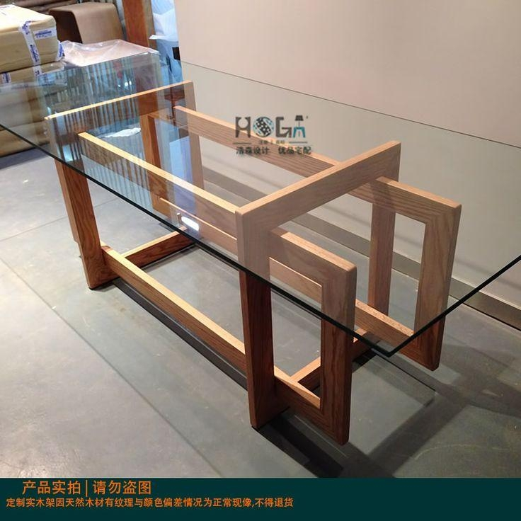 Best 25+ Glass Dining Table Set Ideas Only On Pinterest | Glass Intended For Glass Oak Dining Tables (View 18 of 20)
