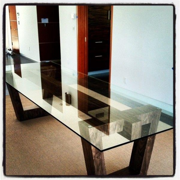 Best 25+ Glass Top Dining Table Ideas On Pinterest | Glass Dining Inside Wood Glass Dining Tables (Image 5 of 20)