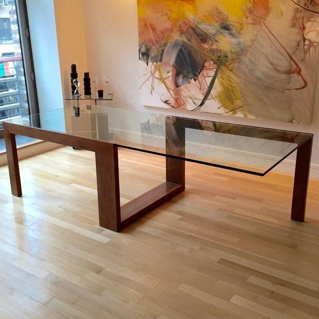 Best 25+ Glass Top Dining Table Ideas On Pinterest | Glass Dining Inside Wood Glass Dining Tables (Image 4 of 20)