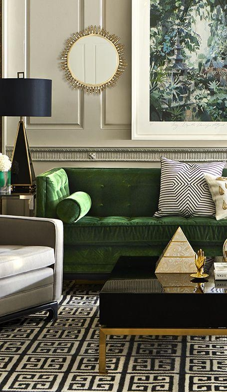 Best 25+ Green Sofa Ideas On Pinterest | Green Living Room Sofas For Emerald Green Sofas (Image 6 of 20)
