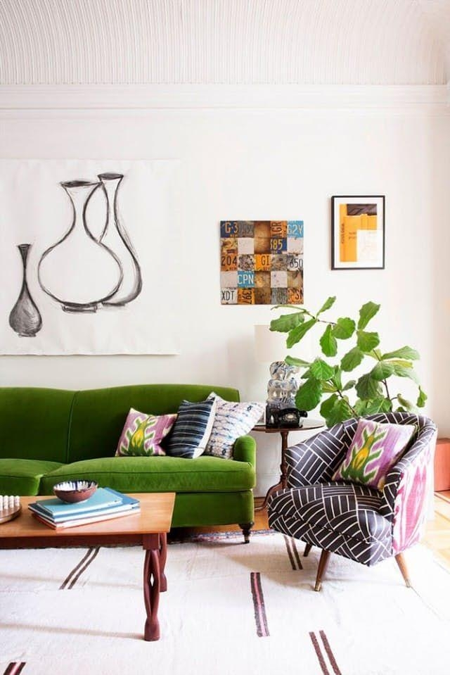 Best 25+ Green Sofa Ideas On Pinterest | Green Living Room Sofas Pertaining To Green Sofas (Image 8 of 20)