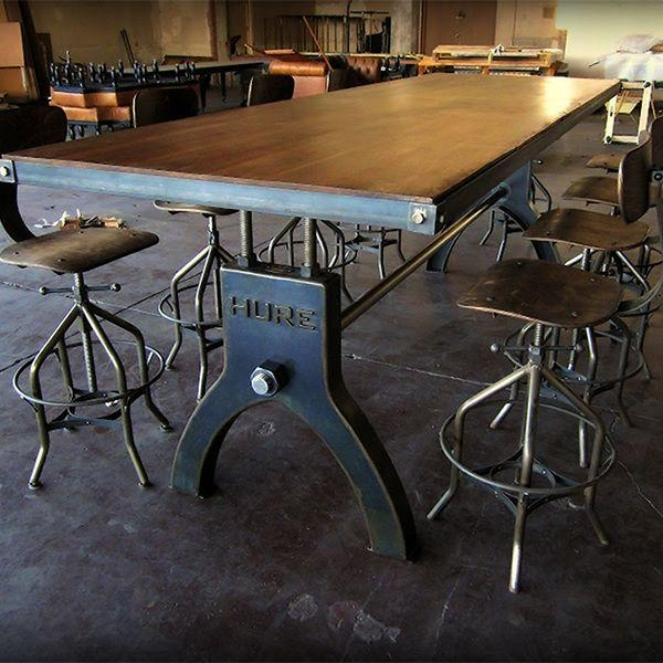 Best 25+ Industrial Dining Tables Ideas On Pinterest | Industrial Intended For Industrial Style Dining Tables (Image 6 of 20)