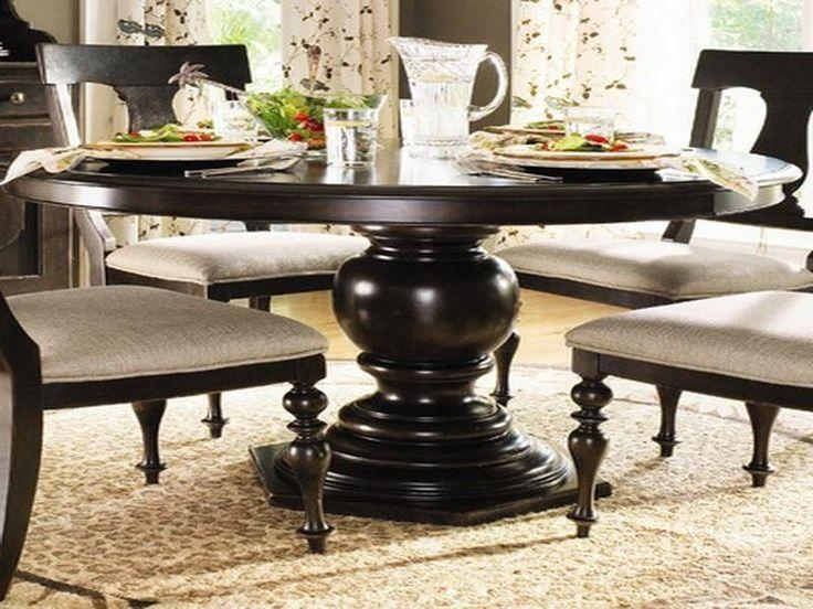 Best 25+ Large Round Dining Table Ideas On Pinterest | Round Regarding Dark Round Dining Tables (View 6 of 20)