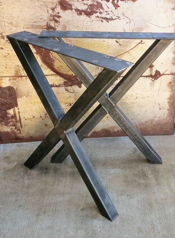 Best 25+ Metal Table Legs Ideas On Pinterest | Diy Metal Table Intended For Dining Tables With Metal Legs Wood Top (View 15 of 20)
