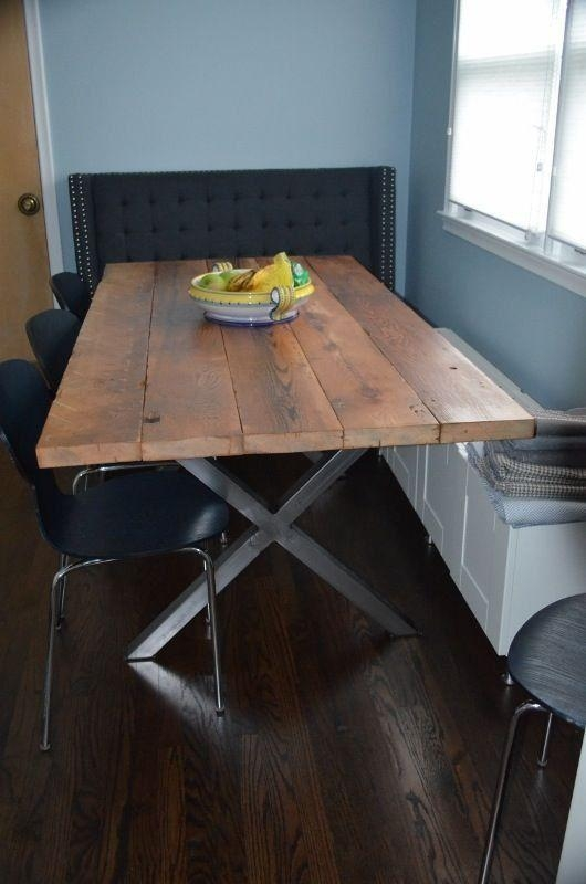 Best 25+ Metal Table Legs Ideas On Pinterest | Diy Metal Table Regarding Dining Tables With Metal Legs Wood Top (View 3 of 20)