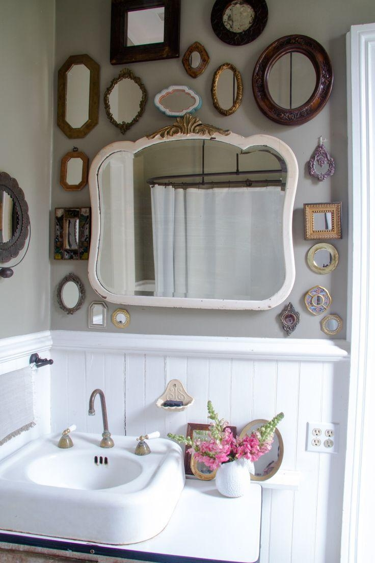Best 25+ Mirror Collage Ideas On Pinterest | Mirror Wall Collage Regarding Retro Wall Mirrors (Image 6 of 20)