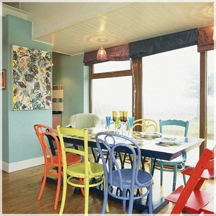 Best 25+ Mixed Dining Chairs Ideas Only On Pinterest | Mismatched For Colourful Dining Tables And Chairs (Image 7 of 20)