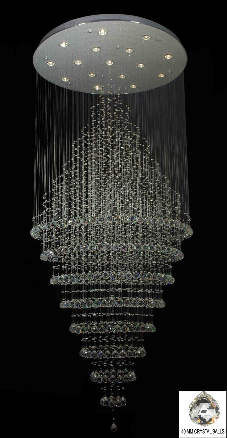 Best 25 Modern Crystal Chandeliers Ideas On Pinterest Crystal With Regard To Crystal Ball Chandeliers (Image 5 of 25)