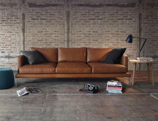 Best 25+ Modern Leather Sofa Ideas On Pinterest | Tan Couch Decor Intended For Contemporary Brown Leather Sofas (Image 5 of 20)