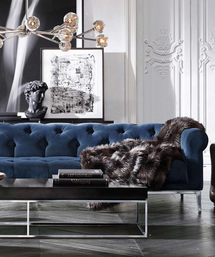 Best 25+ Navy Blue Sofa Ideas On Pinterest | Navy Blue Couches Within Luxe Sofas (View 6 of 20)