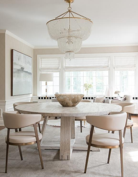 Best 25+ Oak Dining Table Ideas On Pinterest | Round Oak Dining Pertaining To Cream And Wood Dining Tables (View 18 of 20)