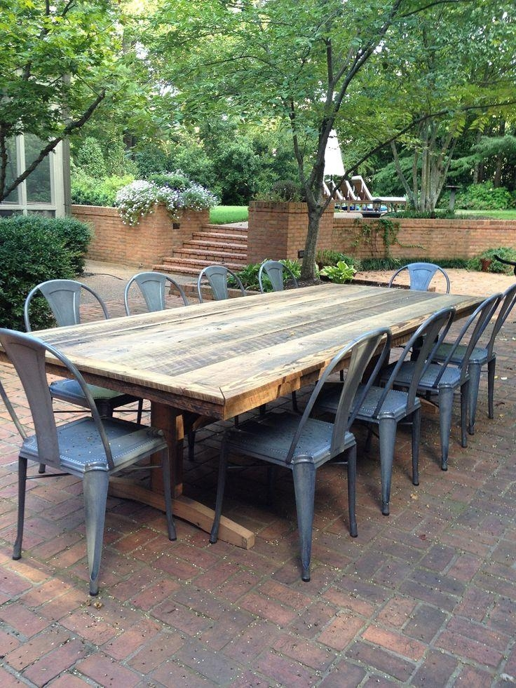 Best 25+ Outdoor Dining Tables Ideas On Pinterest | Patio Tables Within Garden Dining Tables And Chairs (Image 4 of 20)