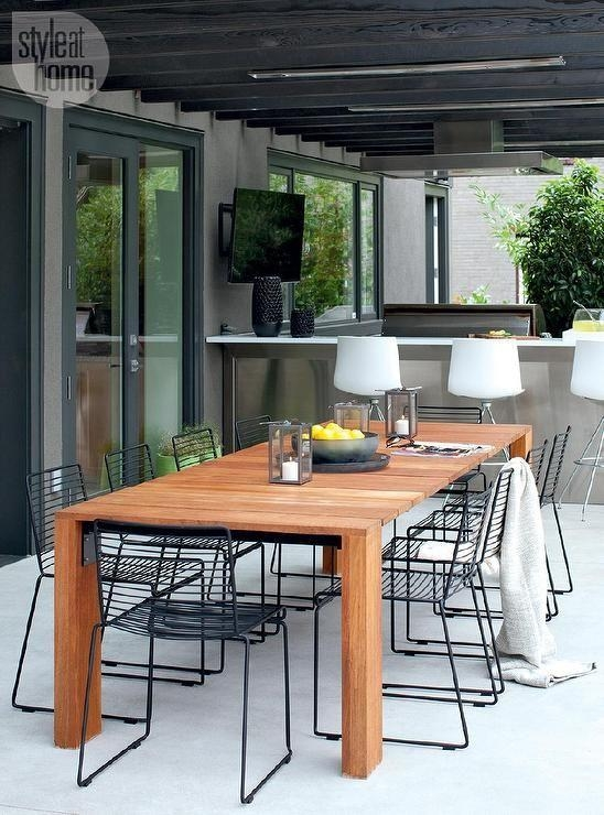 Best 25+ Outdoor Dining Tables Ideas On Pinterest | Patio Tables Within Garden Dining Tables (Image 4 of 20)